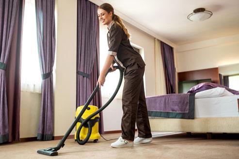 Le nettoyage des hôtels